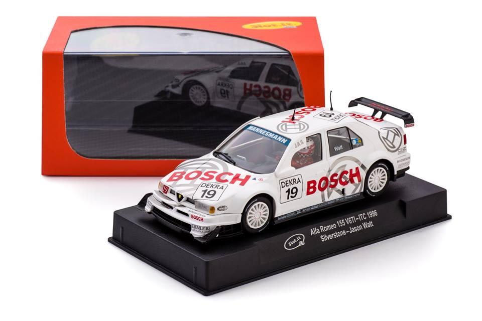 """1996 ITC 1//32 Scale Slot Car CA45A Slot It /""""Bosch/"""" Alfa Romeo 155 V6TI"""